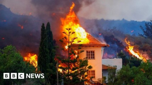 Canary Islands: Lava from erupting volcano destroys homes