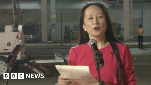 Huawei executive Meng Wanzhou freed by Canada arrives home in China