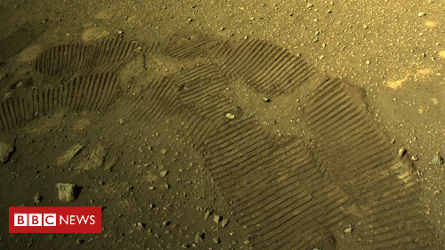 Nasa's Perseverance rover takes its first drive on Mars