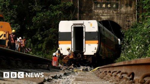 Taiwan train crash: Site boss bailed amid grief 51 deaths