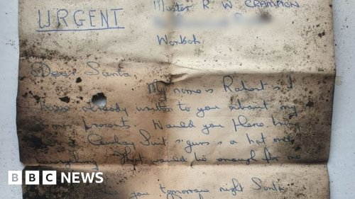 Author of Christmas letter to Santa found by chimney sweeps revealed