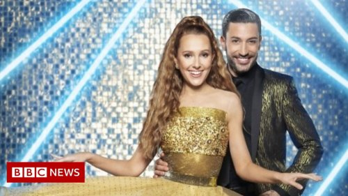 Strictly star rehearsing without hearing music