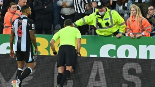 Fan 'stable' after Newcastle game halted