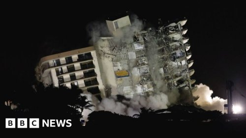 Miami collapse: Remaining structure demolished over safety fears