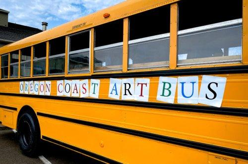 Oregon Coast Art Bus Makes Debut in Newport