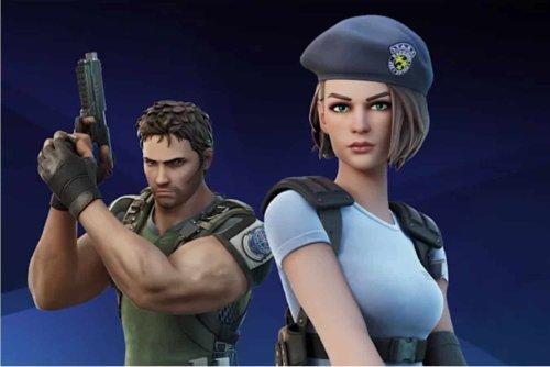 Chris Redfield et Jill Valentine de Resident Evil arrivent dans Fortnite