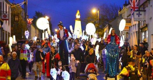 Hillsborough residents celebrate Royal status with lantern parade