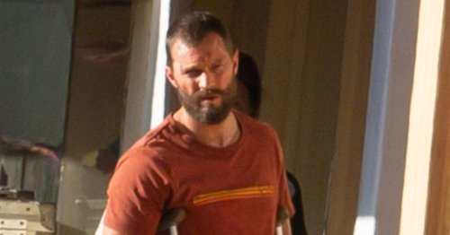 In pictures: Jamie Dornan spotted on set of new BBC thriller series