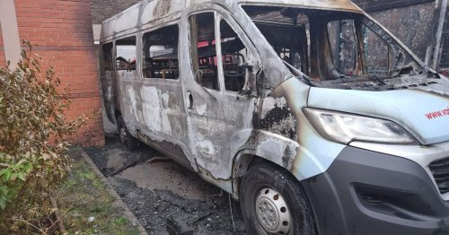 Belfast youth club 'completely baffled' after minibus destroyed in arson attack