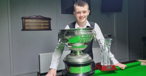 17-year-old Robbie McGuigan becomes youngest ever NI Amatuer snooker champion