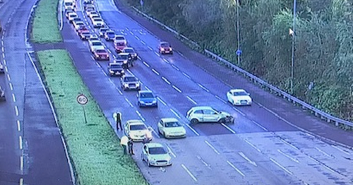 Long traffic delays as police attend scene of crash in Belfast