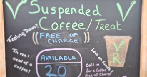 Cafe's kind-hearted coffee scheme to give a boost to those in need