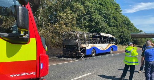 M2 Belfast traffic delays expected after bus fire