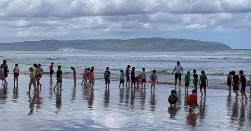 In pictures: Whole school ditches class for a day at the beach