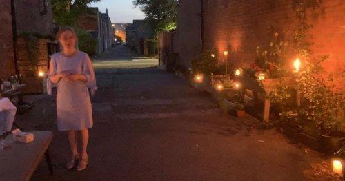 Belfast alley transformed for retired teacher's surprise 60th