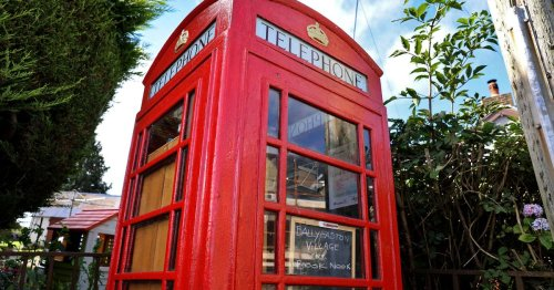 In pictures: Co Antrim village transform old phonebox into cosy book nook