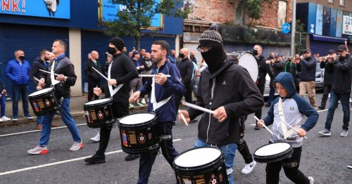 In pictures: Anti-protocol protest held in East Belfast