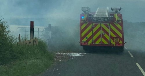 Councillor calls for burning at illegal bonfire site in Co Antrim to stop
