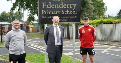 Portadown players go back to school as club launches new initiative