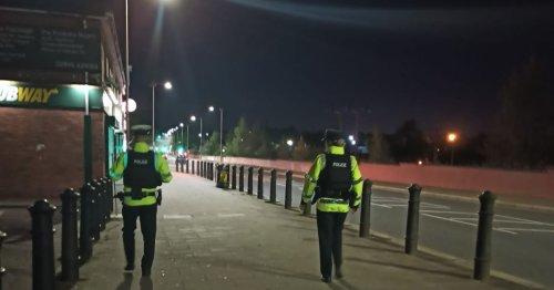 Police on patrol in West Belfast after anti-social behaviour