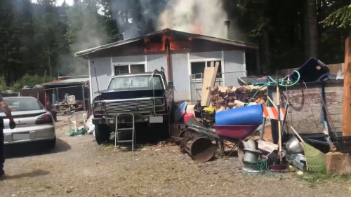 Three cats killed in Whatcom County mobile home fire in busy day for firefighters