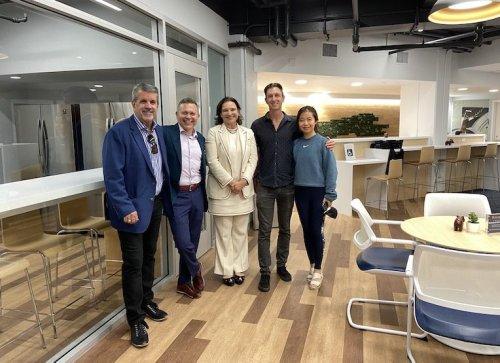 Community celebrates new MBA lounge, the Shneyder & Kirk MBA Commons | Haas News | Berkeley Haas