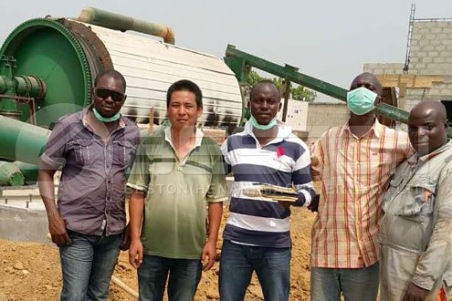 Waste Pyrolysis Equipment Installed in Nigeria | Project