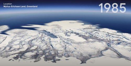 Google Earth lance une fonction timelapse qui fait réfléchir