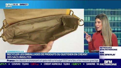 Commerce 2.0 : Recycler les emballages de produits quotidiens en créant des sacs insolites, par Noémie Wira - 26/10