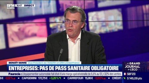Pass sanitaire en entreprises: un salarié suspendu devra démissionner pour quitter l'entreprise (Benoît Serre, ANDRH et DRH de L'Oréal France)