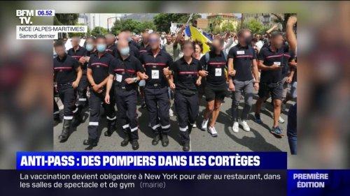 Des pompiers qui ont manifesté en uniforme contre le pass sanitaire à Nice rappelés à l'ordre