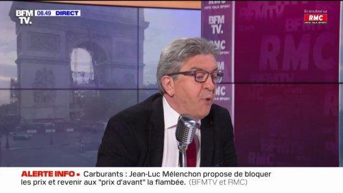 """Pour Jean-Luc Mélenchon, """"il y a un problème avec Eric Zemmour, on n'a jamais vu ça: un racisme pareil étalé, son rapport aux femmes est stupéfiant..."""""""