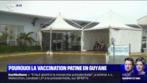 Covid-19: en Guyane, l'épidémie ne faiblit pas et la vaccination patine