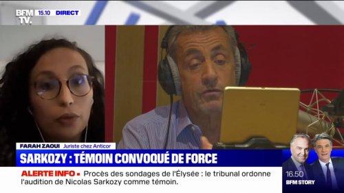 """Affaire des sondages de l'Élysée: pour cette juriste chez Anticor, la convocation de Nicolas Sarkozy """"n'est pas contre-productive"""", même s'il garde le silence"""
