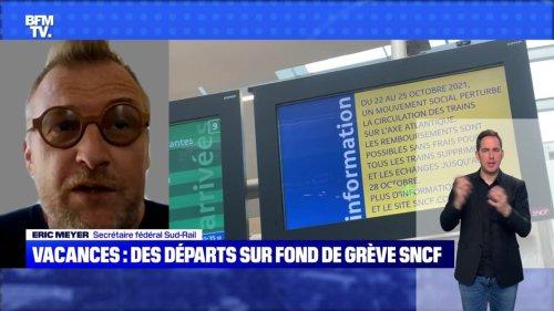 Des départs en vacances sur fond de grève SNCF - 23/10