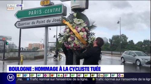 Boulogne-Billancourt: un hommage à la cycliste tuée