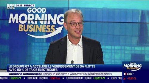 """Nicolas Rousselet (PDG des Taxis G7): """"Aujourd'hui, 47% de la flotte G7 est passé à l'hybride [...] Pour l'étape suivante (l'électrification), nous avons besoin d'être aidé"""" par les pouvoirs publics"""