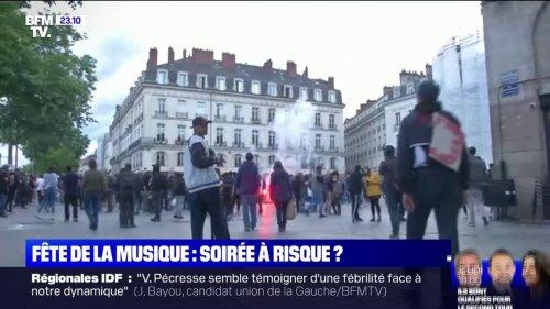 Nantes: des débordements dans le centre-ville