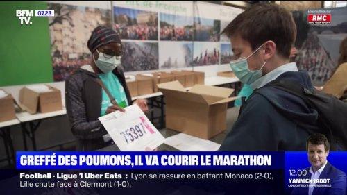 Alexandre, greffé des deux poumons, participe au marathon de Paris