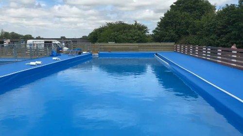 Prés du Hem d'Armentières: deux piscines éphémères accessibles à la baignade
