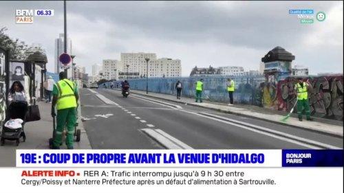 Paris: le 19e arrondissement nettoyé avant la venue d'Hidalgo