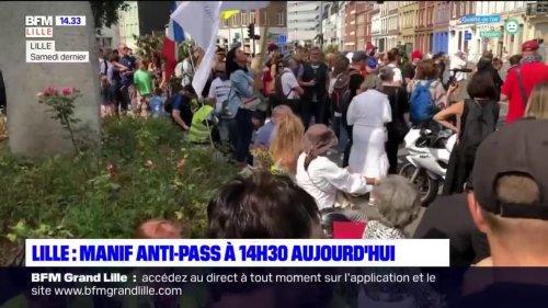 Lille: nouvelle mobilisation anti-pass sanitaire ce samedi après-midi, une opération escargot aussi organisée entre Douai et Arras