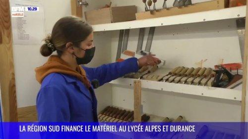 La Région Sud finance le matériel au Lycée Alpes et Durance