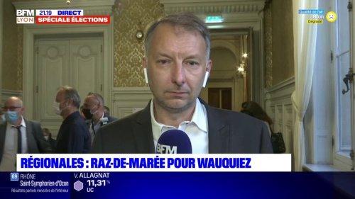 """Régionales: """"Nous sommes deuxième et nous faisons plus que doubler le résultat que nous avions en 2015"""", réagit Bruno Bernard, le président EELV de la Métropole de Lyon"""