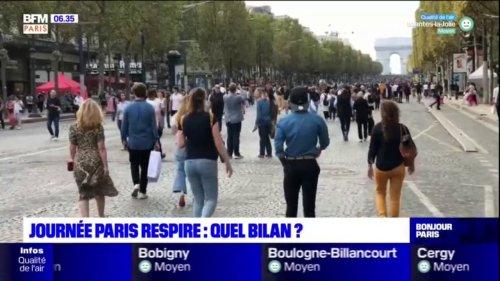 Paris: quel bilan pour la 7e édition de Il était interdit de circuler en voiture dans la capitale ce dimanche pour la 7e édition de la journée Paris respire sans voiture?