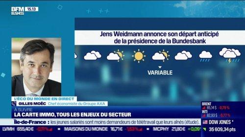 """Gilles Moëc (AXA) : Jens Weidmann annonce son départ anticipé de la présidence de Bundesbank, """"pour des raisons personnelles"""" - 21/10"""