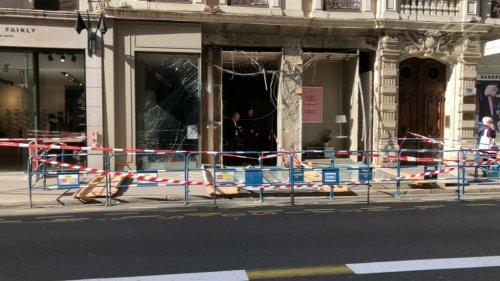 Lyon: une façade soufflée par une explosion dans le 2e arrondissement