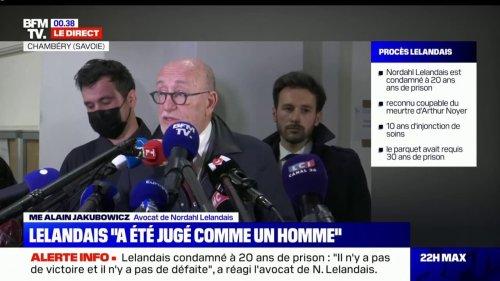 """Me Alain Jakubowicz, avocat de Nordahl Lelandais: """"Nous ne faisons pas appel"""""""