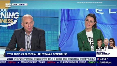 """Bruno Bertin (DRH France du groupe PSA): 10 euros d'indemnités par mois pour le télétravail, trop faible? """"On verra les ajustements qu'il faut faire, aujourd'hui nous avons trouver l'équilibre avec les partenaires sociaux"""""""