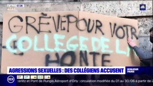 Paris: des collégiens manifestent après que leurs professeurs aient soutenu un de leur collègue accusé d'agression sexuelle